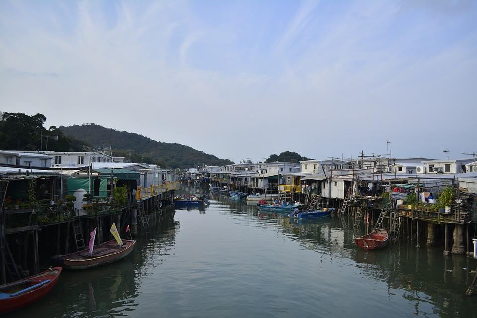 hongkong, tai o, water